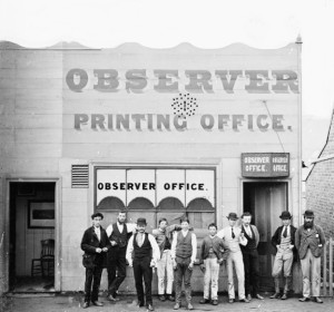 Hill End Observer office from the Holtermann Collection, ON 4 Box 9 No 18832