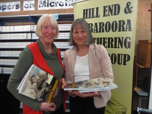 "Authors Lorraine Purcell & Helen Wood with their new publication, ""Golden Diggers"""