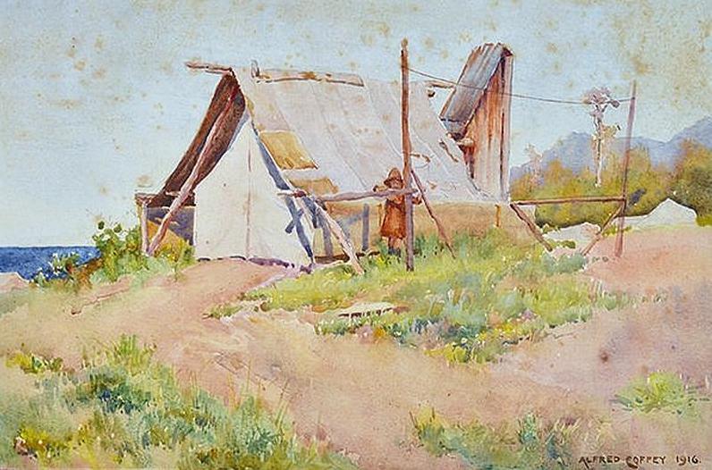 Miners Hut, 1916 – Alfred Coffey