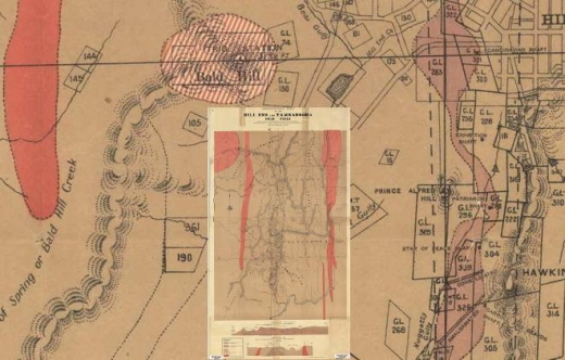 Geological map of HE and TG
