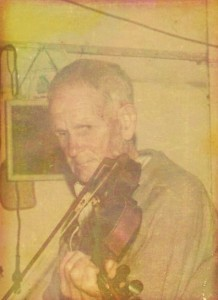 Joe Yates with his violin – from Coral Brann' s collection