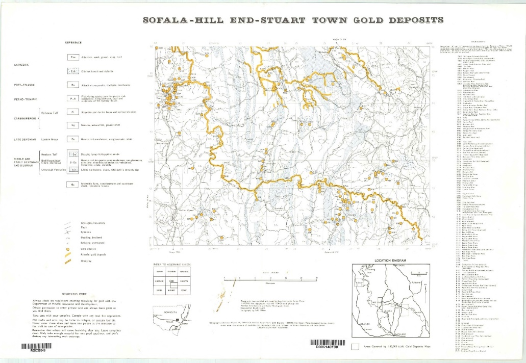 Map of Sofala, Hill End and Stuart Town