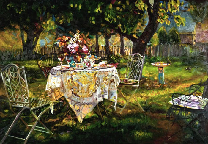 Autumn Evening under the Apricot Tree 2010, Rosemary Valedon Reproduced with kind permission of the artist